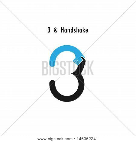 Creative 3- number icon abstract logo design vector template.Business offerpartnership icon.Corporate business and industrial logotype symbol.Vector illustration