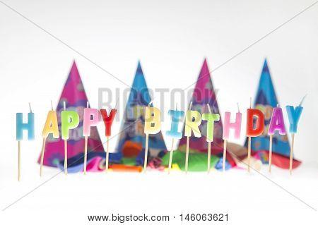 Happy Birthday Writen In Candles