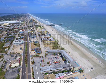 Aerial photo of Daytona Beach Florida USA