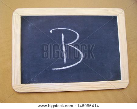 Slate used by students in the preparatory work - letter B