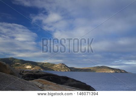 Spain Galicia Costa da Morte Muxia Atlantic coast in morning light