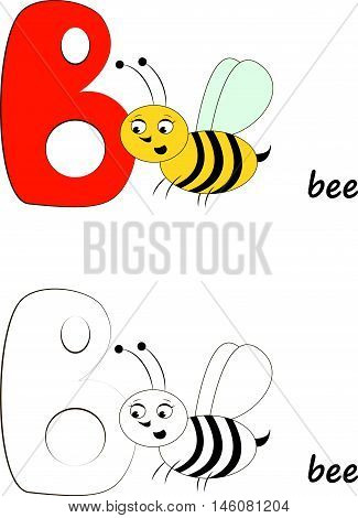 Illustration of a сute bee for kids