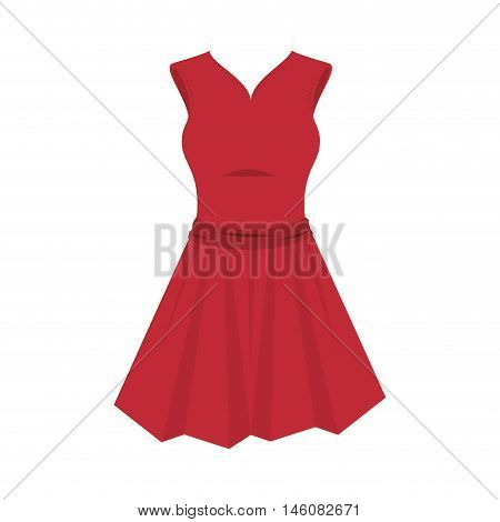 red dress. sewing garment. fashion clothing. Vector illustration