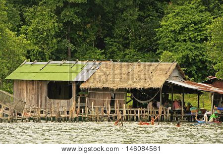 Stilt Houses, Ream National Park, Cambodia
