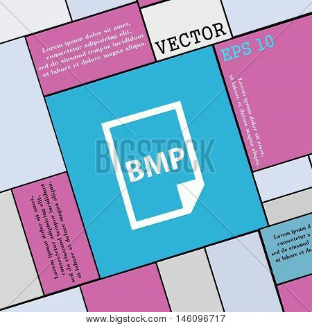 Bmp Icon Sign. Modern Flat Style For Your Design. Vector