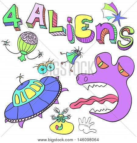 Aliens a set of amusing pictures of alien organisms