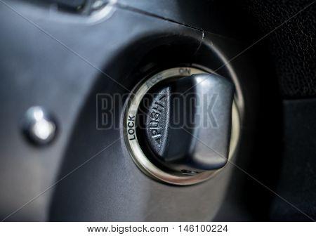Smart Key turning knob on Smart sport luxury car