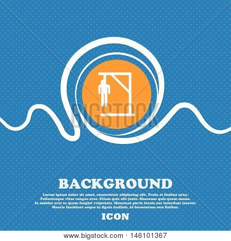 Suicide Concept Icon Sign. Blue And White Abstract Background Flecked With Space For Text And Your D