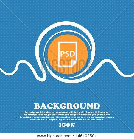 Psd Icon Sign. Blue And White Abstract Background Flecked With Space For Text And Your Design. Vecto