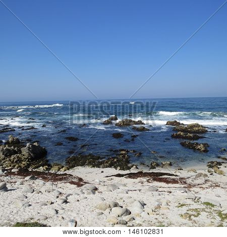 This is an image of the incoming tide taken at Asilomar State Preserve in Pacific, Grove, California.