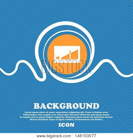 Volume Adjustment Icon Sign. Blue And White Abstract Background Flecked With Space For Text And Your