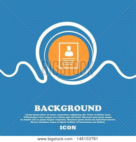 Form Icon Sign. Blue And White Abstract Background Flecked With Space For Text And Your Design. Vect