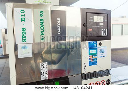 Bordeaux, France - April 1, 2011: Car Filling At Gas  Station