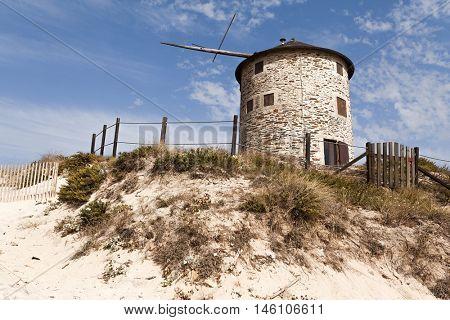 Ancient windmill at Apulia - Esposende, Portugal