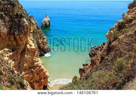 Summer Atlantic Rocky Coast (algarve, Portugal).