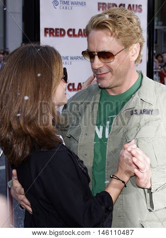 Robert Downey Jr. and Susan Downey at the World premiere of 'Fred Claus' held at the Grauman's Chinese Theater in Hollywood, USA on November 3, 2007.
