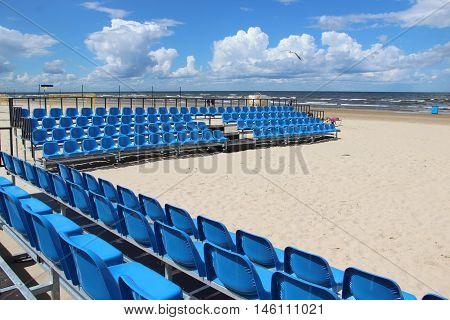 Beautiful beaches of Baltic sea Jurmala Riga Latvia