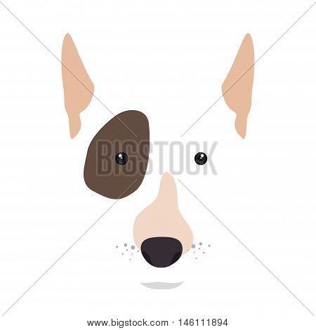 bull terrier breed dog canine pet animal. puppy cartoon. vector illustration