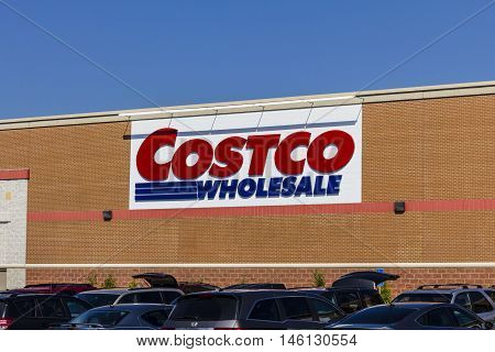 Indianapolis - Circa September 2016: Costco Wholesale Location. Costco Wholesale is a Multi-Billion Dollar Global Retailer VI