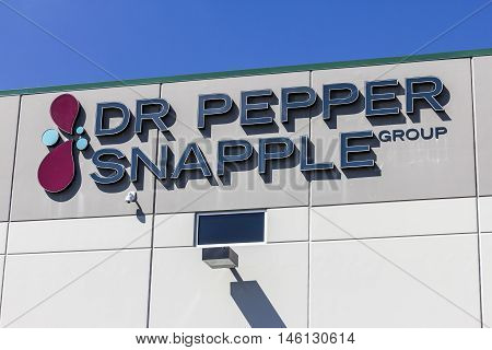 Indianapolis - Circa September 2016: Dr Pepper Snapple Group Bottling Plant. DPS is in the Bottled and Canned Soft Drinks Business I