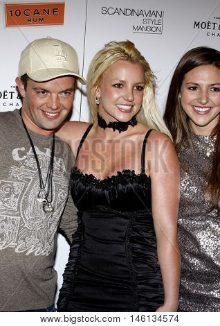 Claus Hjelmbak, Britney Spears and Alli Sims at the Scandinavian Style Mansion held at the Private Residence in Bel Air, USA on December 1, 2007.