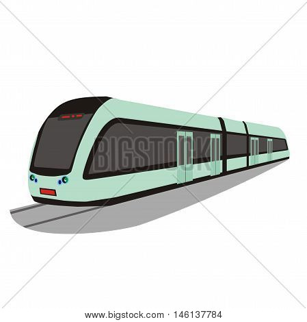 Illustration of a modern public transport light rail train in Changchun, China