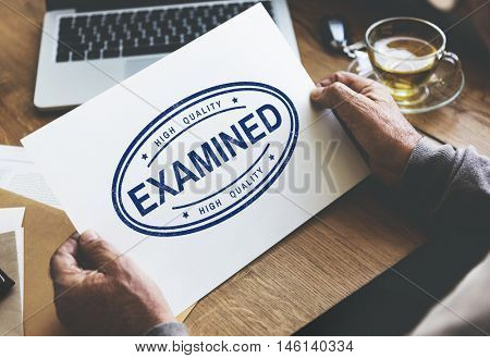 Examined Authorised Certified Verified Approve Concept