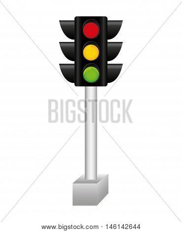 semaphore traffic light isolated icon vector illustration design