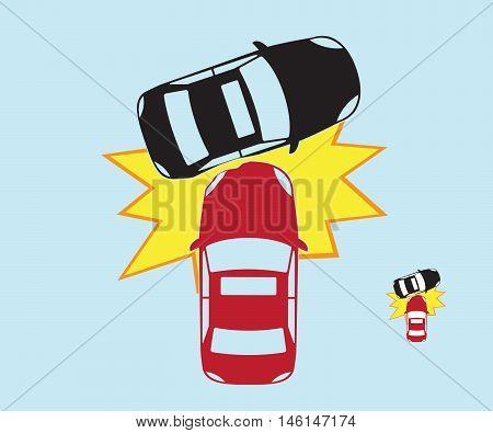 car crash car crash accident vector illustration