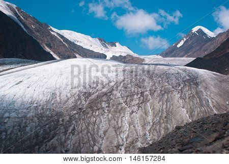 At The Foothill Of Big Aktru Glacier