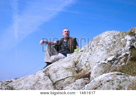 Man On A Mountain Top