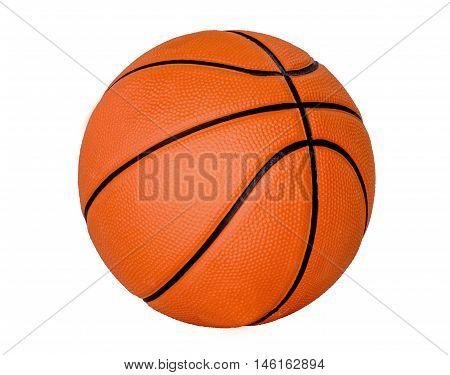 Basketball ball over white background. Isolated white background