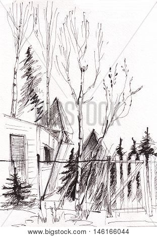 instant sketch fence and gate black and white
