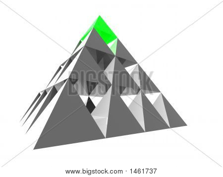 Abstract Pyramid With Green Top