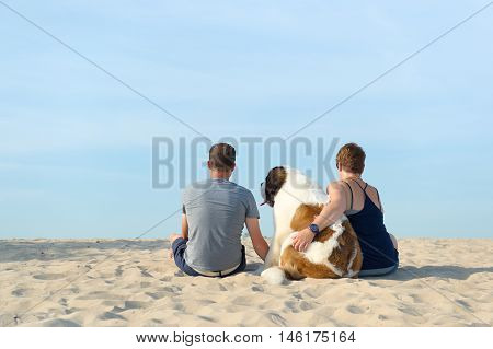 Owner With His Dog