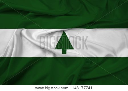 Waving Flag of Greenbelt Maryland USA, with beautiful satin background. 3D illustration