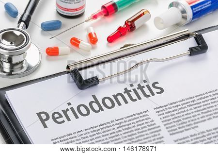 The Diagnosis Periodontitis Written On A Clipboard