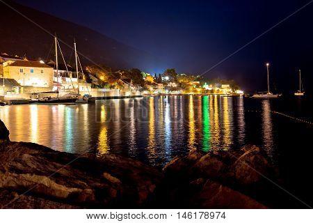Town of Bol evening view Island of Brac Dalmatia Croatia