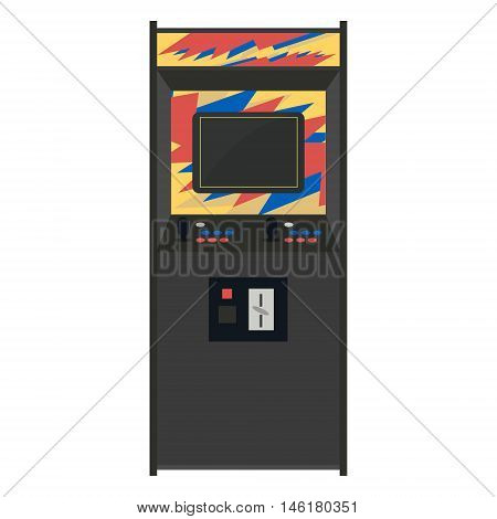 Arcade Machine Vector Illustration. Geek Gaming Retro Gadgets From The Nineties. Old Game Entertainm