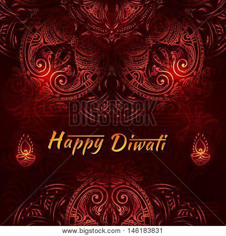 Happy Diwali festival - National Hindu celebration. Diwali festival celebration in India