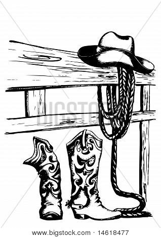 Vector Cowboy Elements