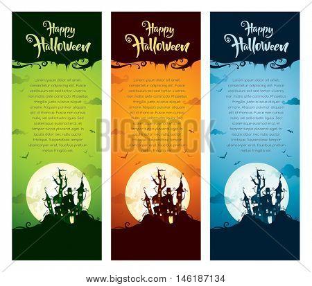 Halloween vertical banner set