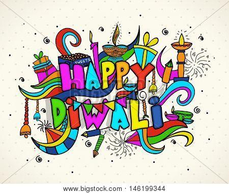 Indian festival of lights Happy Diwali concept.