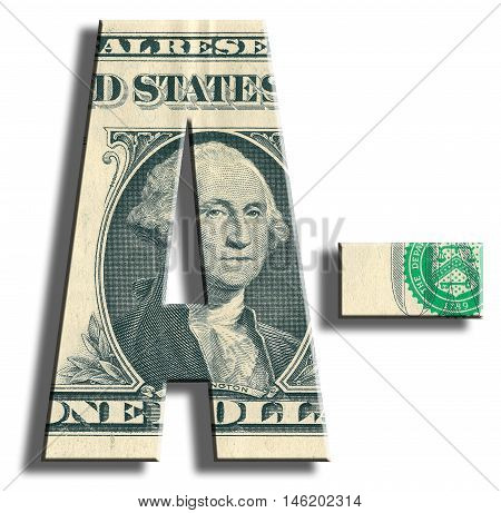 A- Credit Rating. Us Dollar Texture.