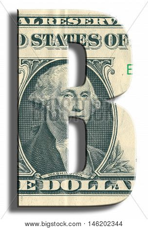 B Credit Rating. Us Dollar Texture.