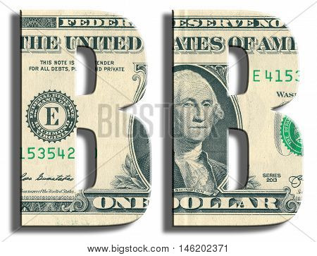 Bb Credit Rating. Us Dollar Texture.