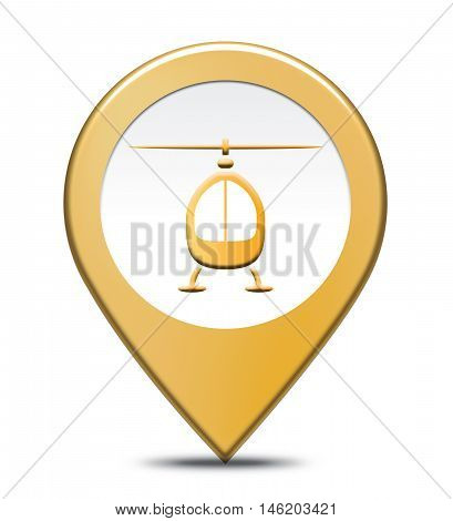 Heliport Location Represents Aircraft Transportation And Helipad