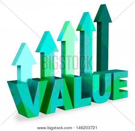 Build Value Means Worth Cost 3D Rendering