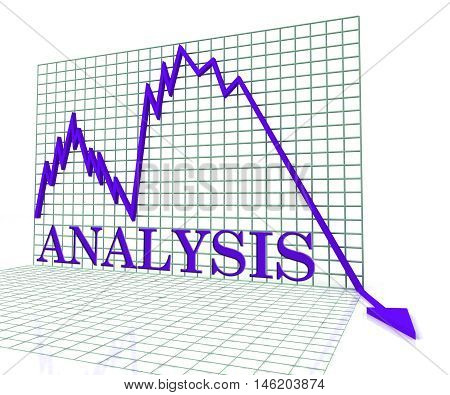 Analysis Graph Negative Means Analytics Downturn 3D Rendering