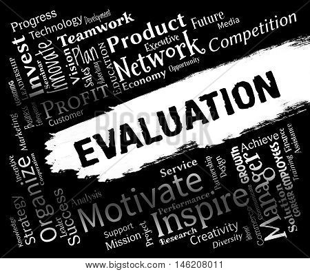 Evaluation Words Representing Appraisal Estimation And Evaluating poster